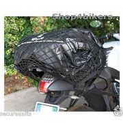 Motorcycle trike cruiser quad x large 65 x 35 cm cargo net black 6 strong hooks