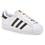 adidas Superstar Athletic Shoe Mens/Women (8, WHITE)
