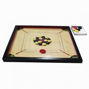 Abaronee 22 inch Carrom Board high Quality Wooden Water Proof with Free Coins and Striker
