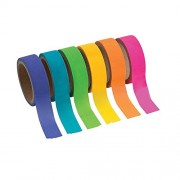 Neon Washi Tape Set (6 Rolls Per Unit) Each Roll Includes 16 Ft. Of Tape