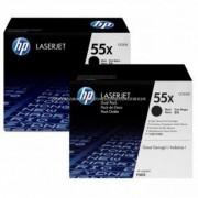 HP CE255XD Toner Bk 2*12,5k No.55XD cikkszám: CE255XD