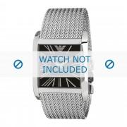 Giorgio Armani bracelet de montre AR2012 Acier inoxydable Argent 28mm