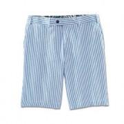 """Hiltl Seersucker Bermuda Shorts, 36""""R - Blue/White"""