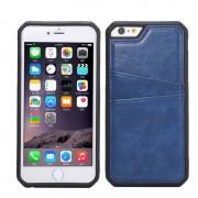 Силиконов гръб с кожа за Apple iPhone 6 / 6S Син