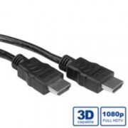 Кабел ROLINE 11.99.5547, HDMI(м) към HDMI(м), 15м, черен