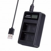 LCD Display Dual-Channel USB Charger for Sony NP-FM500H BC-VM50 NP-FM50 NP-FM55H NP-F550 Battery