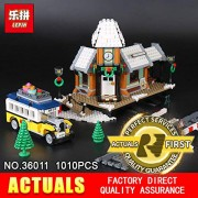 Generic Lepin 36011 1010Pcs Genuine Creative Series The Winter Village Set Building Blocks Bricks DIY Educational Toys Model 10259