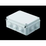 Doza aparenta - IP55 - dimensiuni interioare 190X140X70 - WALLS cu presetupe - GWT960'ºC - GREY RAL 7035