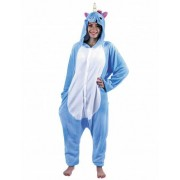 Disfraz unicornio azul adulto Única