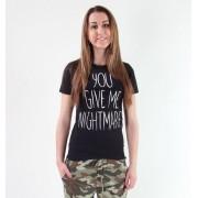 tricou hardcore femei copii - Your Give Me Nightmares - Akumu Ink - 6TW03