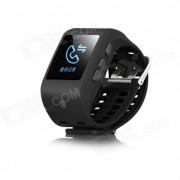 """SHA04 Smart Watch w / Bluetooth? camara? 1.44"""" pantalla tactil? podometro? identificador de llamadas? Marcador de telefono - Negro"""