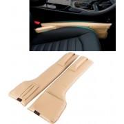 Een paar Universele Autostoel Catcher Gap Console Filler Zitting Side Organizer Catcher Lekvrije Seat Crevice Opbergzakken (Khaki)-