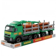 Jucarie camion cu remorca si lemne Volvo PowerTruck Wader