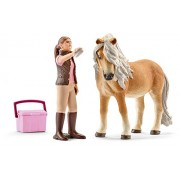 Schleich 41431 - Horse Club Groom with Icelandic pony mare