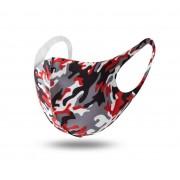 Munskydd / Ansiktsmask Camouflage Tvättbart (Färg: Röd Camouflage)