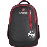 Swisstek laptop back pack with rain cover 25 L Laptop Backpack (Black, Red)