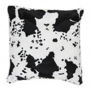 Geen Decoratie kussen met dierenprint koe zwart/wit47 x 47 cm Multi