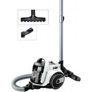 Aspirator fara sac Bosch GS05 Cleann'n BGS05A222, 700 W, 1.5 l, EasyClean, PureAir, Perie cu role, Perie parchet, Alb