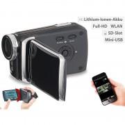 "Somikon Full-HD-Camcorder mit 7,6-cm-Touch-Display (3""), WLAN, App-Steuerung"