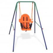 vidaXL Детска люлка за двора с колан за безопасност, оранжева