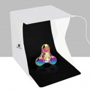 PULUZ 20cm Folding Portable Light Photo Lighting Studio Shooting Tent Box Kit with 2 Colors Backdrops (Black White) Size: 20cm x 20cm x 20cm