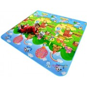 GMS 180*120*0.5cm Double Sides Baby Kids Toddler Crawl Mat Playing Carpet Playmat Picnic Blanket for In Out Doors Farm Fruit Alphabet