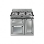 Cocina Victoria Negra 90x60 cm3 hornos encimera gas Clase A TR93X SMEG