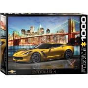 Пъзел Eurographics от 1000 части - Corvette Z06 в Ню Йорк