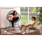 1a Direktimport Original Acapulco Chair schwarz - Retro Sessel - Outdoor und Indoor