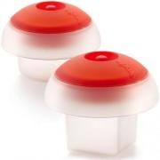 Lékué® OVO kit - szilikon tojásfőző szett (2db), négyszög/henger, átlátszó