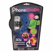 Microscop pentru telefon, marire 30x, 25 cm, 3 ani+