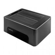Logilink Docking Station USB3.0 Doppio Slot HDD/SSD SATA da 2.5''/3.5'' Nero