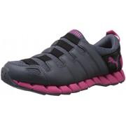 Puma Women's Osu v4 Wn s DP Turbulence, Black and Fuschia Purple Mesh Running Shoes - 4 UK/India (37 EU)