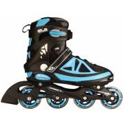 Nijdam Inline Skates PP Chassis Semi Softboot Zwart/Blauw Maat 43