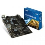 Дънна платка MSI B250M PRO-VD, B250, LGA1151, DDR4, PCI-E (DVI&VGA), 6x SATA 6Gb/s, 2x USB 3.1, Micro-ATX