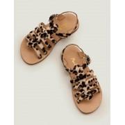 Mini Leopard Gladiatorensandalen aus Leder Mädchen Boden, 26, Brown