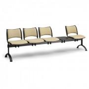 B2B Partner ławka do poczekalni tapicerowana smart, 4 siedzenia + stołek,