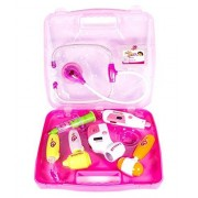 FunBlast® Doctor Kit Toys for kids, Battery Operated Doctor Kit Pretend Play Doctor Playset Medical Carrycase Nurses Toy Set Fun Toy Gift Early Education for Kids (Pink)