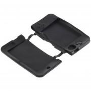 ER Silicona Suave Gel Protector Funda De Piel Para Nintendo 3DS XL LL -Negro