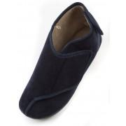 Traders Velcro Diabetic Boot Slipper - Navy 9