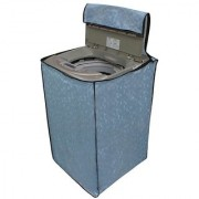 Glassiano Sky Blue Colored Washing Machine Cover For LG T72CMG22P Fully Automatic Cool Grey/Marine Blue 6.2kg
