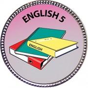 English 5 Award, 1 inch dia Silver Pin 'Scholarship Studies Collection' by Keepsake Awards