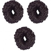 RKD Juda Hair Band For Women And Girls Juda Accessories For Women Set Of 3 Small (Brown) Bun Hair Accessory Set (Br