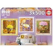 Educa Children's 3 x 500 Enchanted Moments Gail Marie Deco Puzzle (500 Piece)