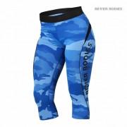 Better Bodies Fitness Curve Capri Blue Camo L