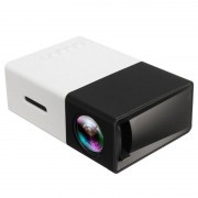 Mini Portable Full HD LED Projector YG300 - Black / White