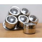 Set Condimente 7 Piese Inox Magnetic Dreptunghi