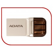 USB Flash Drive 16Gb - A-Data DashDrive UC360 OTG USB 3.1/MicroUSB Gold AUC360-16G-RGD