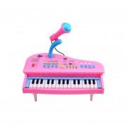 Teclado Electrónico Juguete Piano Musical Con Micrófono-Rosado