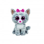Jucarie de plus TY 24 cm - Boos Kiki pisica gri